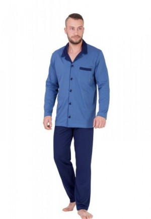 M-Max Norbert 670 Pánské pyžamo M jeans-tmavě modrá