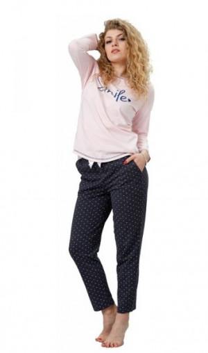 M-Max Evi 782 Dámské pyžamo M růžová