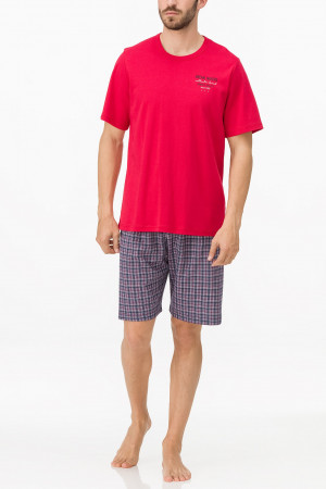 Pánské pyžamo 11701 - Vamp  malinová-modrá