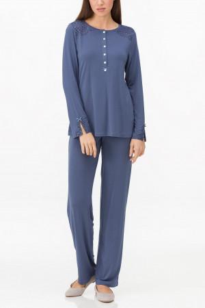Dámské pyžamo 11195 - Vamp  tmavě modrá
