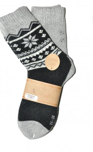 Dámské ponožky WiK 37845 Winter Sox A'2 černá-šedá 39-42