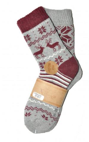 Dámské ponožky WiK 37836 Winter Sox A'2 béžová-krémová 35-38