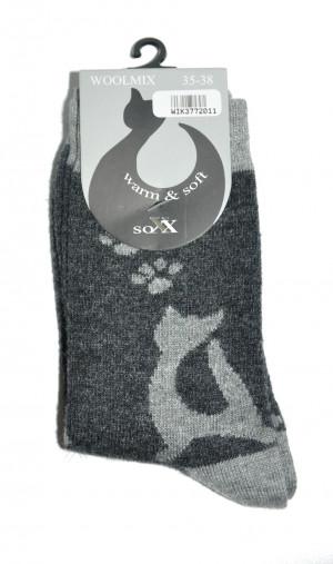 Dámské ponožky WiK 37720 Woolmix černá 35-38
