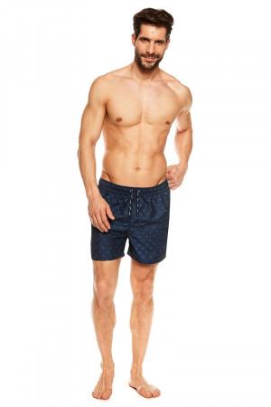 Pánské plavkové šortky 36846-59X - Henderson tmavě modrá - vzor