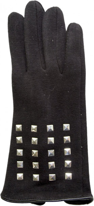 Rukavice s cvočky R-027 černá 24 cm