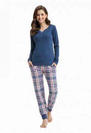 Luna 432 Dámské pyžamo M indygo/tmavě modrá