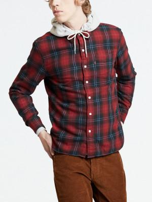 Košile LEVI'S Sunset 1 Pocket Shirt Cummings Červená