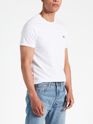 Tričko LEVI'S SS Original Hm Tee Cotton + Patch White Bílá