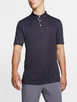 Tričko Nike Men's Plaid Golf Polo Černá