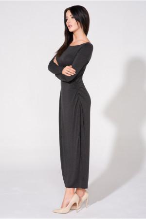 Dámské šaty T143 - Tessita  tmavě šedá 42/XL