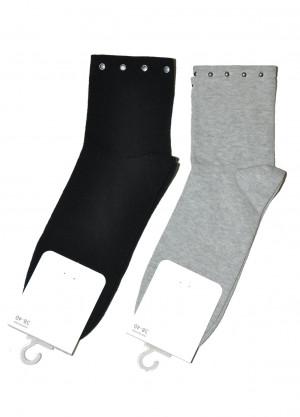 Dámské ponožky s aplikací Steven art.168  černá 35-37