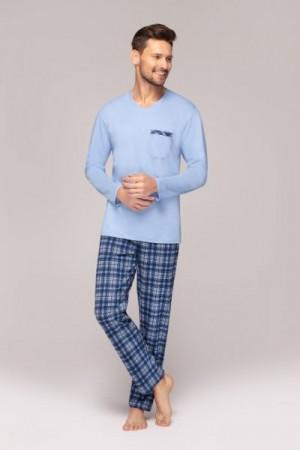 Regina 554 Pánské pyžamo XL tmavě šedá melanž