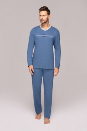 Regina 549 plus Pánské pyžamo XXL tmavě modrá