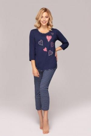 Regina 906 Dámské pyžamo S tmavě modrá