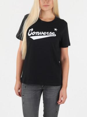 Tričko Converse Center Front Logo Tee Černá