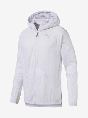 Bunda Puma Lightweight Hooded Jacket Bílá