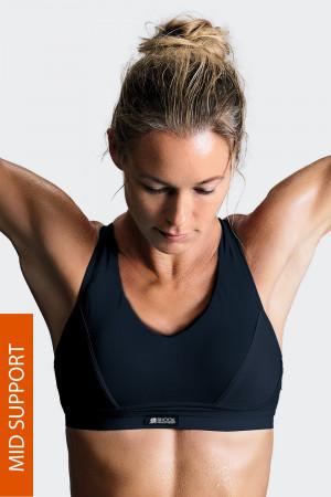 Sportovní podprsenka Shock Absorber Active Sports Padded bez kostic černá 70/A