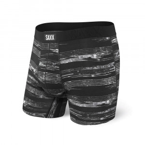Pánské boxerky Ken černobílá