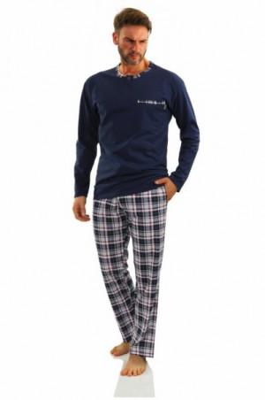 Sesto Senso Jasiek 2188/06 Pánské pyžamo XL tmavě modrá/vzor