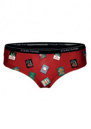Dámské kalhotky hipster John Frank WJFD-H25  L Červená