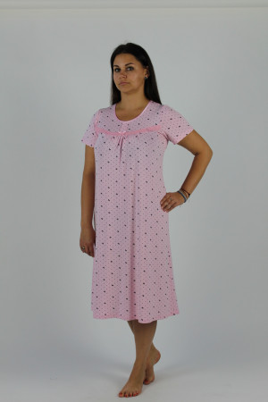 Dlouhá dámská noční košile s krátkými rukávy 441 JULIETTE  okrová