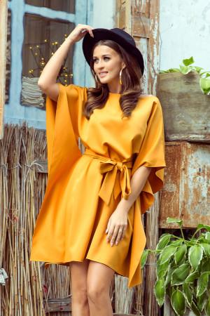 SOFIA - Dámské motýlkové šaty v medové barvě 287-1  S/M