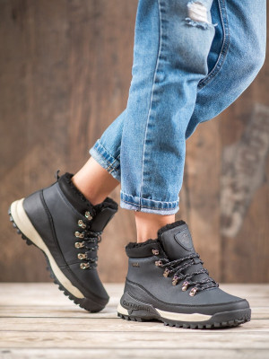 Designové  kotníčkové boty modré dámské bez podpatku