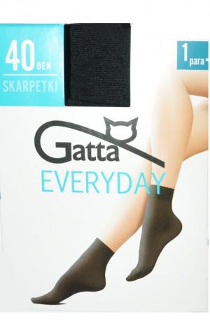 Dámské ponožky GATTA EVERYDAY - Mikrovlákno, 40 DEN černá uni velikost