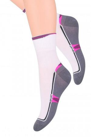 Dámské ponožky Steven art.026 Sport  sv. béžová-béžová 35-37