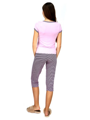Dámské pyžamo 910-KK růžovočerná- CoCoon Secret růžovo-černá