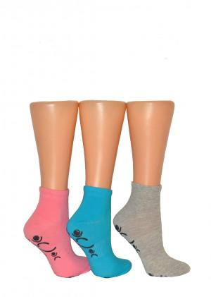 Dámské ponožky Bratex Ona Sport 5309 ABS  černá 39-41