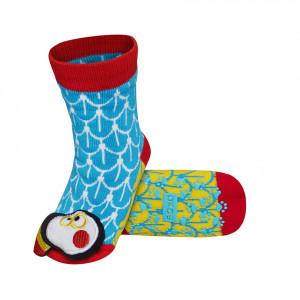 Ponožky SOXO -  ABS PREMIUM TUKAN modrá 19-21