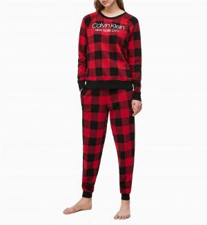 Dámská mikina QS6301E-5VJ černočervená - Calvin Klein černo-červená