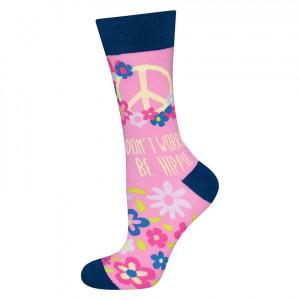 Ponožky SOXO GOOD STUFF KARMA - BE HIPPIE