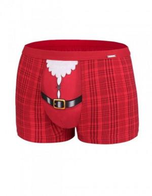 Cornette 047/50 Belt Merry Christmas pánské boxerky S červená