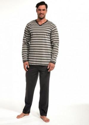 Cornette 139/06 Pánské pyžamo XXL grafitová (tmavě šedá)