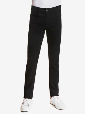 Džíny Trussardi 370 Extra Slim Denim Diego Black Od Black Stretch Černá