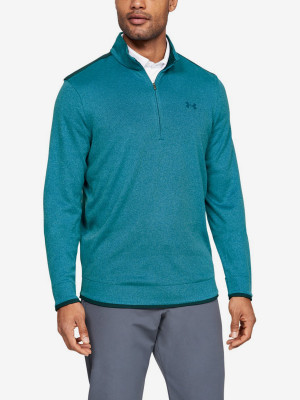 Mikina Under Armour Sweaterfleece 1/2 Zip-Grn Modrá