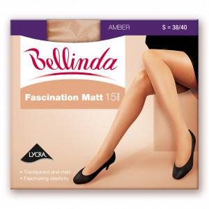 Punčochové kalhoty FASCINATION MATT 15 DEN - BELLINDA - tělová 44-48 (L)