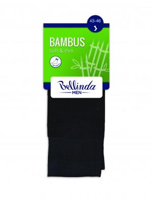 Pánské ponožky BAMBUS SOCKS - BELLINDA - černá 39-42