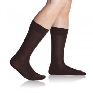 Pánské ponožky BAMBUS COMFORT SOCKS - BELLINDA - hnědá 39-42