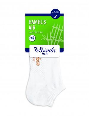 Pánské nízké ponožky BAMBUS AIR IN-SHOE SOCKS - BELLINDA - bílá 39-42