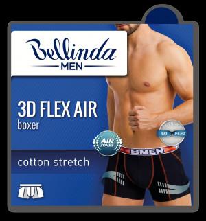Pánské boxerky 3D FLEX AIR BOXER - BELLINDA - šedá
