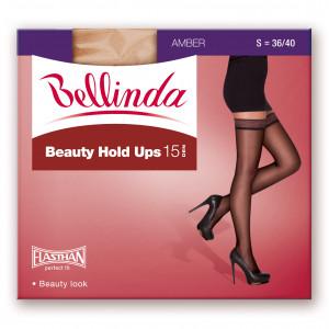 Samodržící punčochy BEAUTY HOLD UPS 15 DEN - BELLINDA - amber
