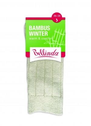 Dámské zimní ponožky BAMBUS WINTER SOCKS - BELLINDA - béžová 35-38