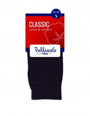 Pánské ponožky CLASSIC SOCKS - BELLINDA - černá 39-42