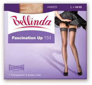 Samodržící punčochy FASCINATION UP 15 DEN - BELLINDA - amber