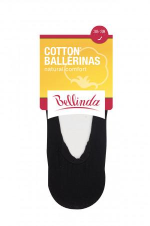 Dámské bavlněné balerínky COTTON BALLERINAS - BELLINDA - černá 35-38