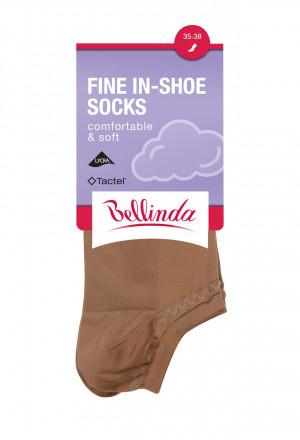Dámské ponožky FINE IN-SHOE SOCKS - BELLINDA - bílá 35-38