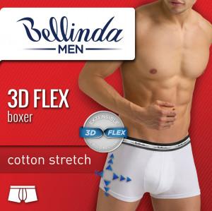 Pánské boxerky 3D FLEX BOXER - BELLINDA - šedá